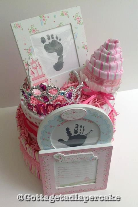 Princess 2 tier diapercake by Gottagetadiapercake on Etsy, $55.00