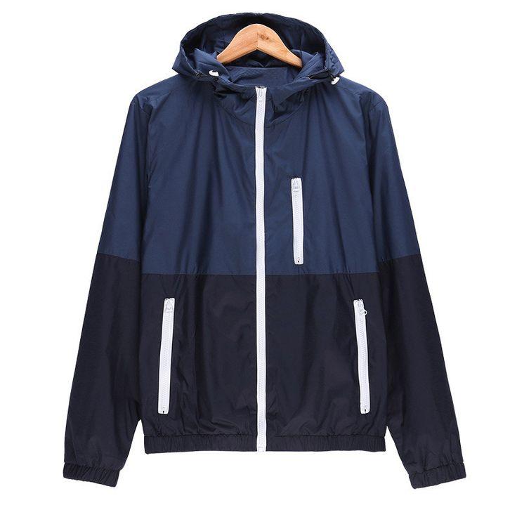 Jacket Men Windbreaker Jacket Men's Hooded Casual Jackets Male Jacket Coat Thin Men Coat Outwear