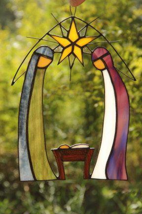 Nativity Window Decoration