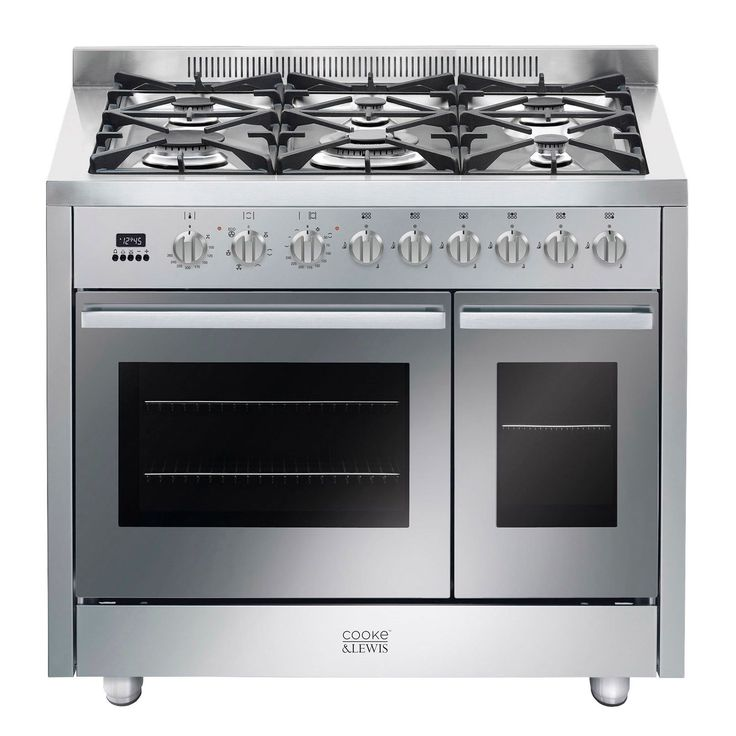 Cooke & Lewis Dual Fuel Range Cooker with Gas Hob, CLDFRC-100 | Departments | DIY at B&Q