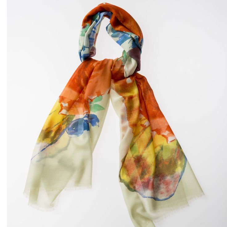 Printed Scard 100% Flower Yellow http://www.creswickwool.com/accessories/scarfs/printed-scarf-100-flower-yellow.html