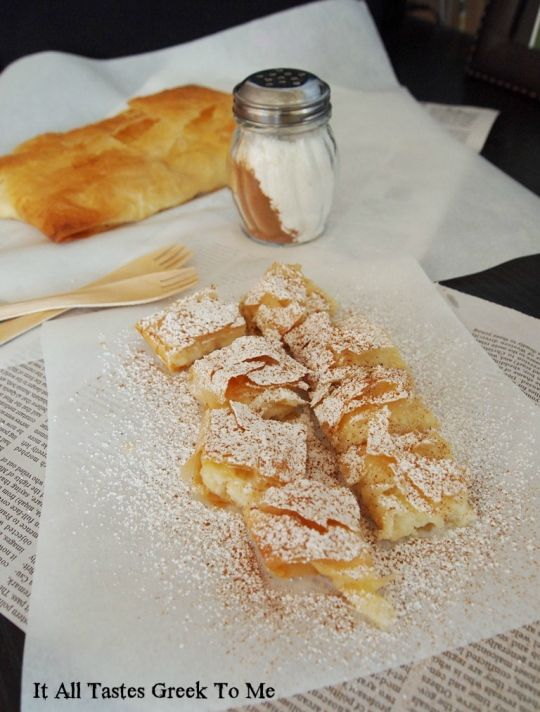 Bougatsa! Greek custard pie