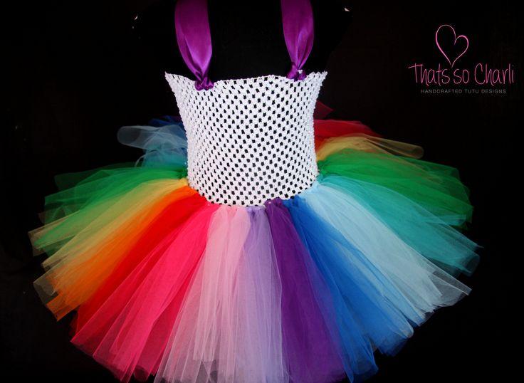 Rainbow tutu Size 1-2 (or small 3) $45NZD www.facebook.com/thatssocharli thatssocharli@gmail.com