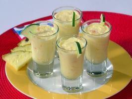 tropical vanilla pudding shots