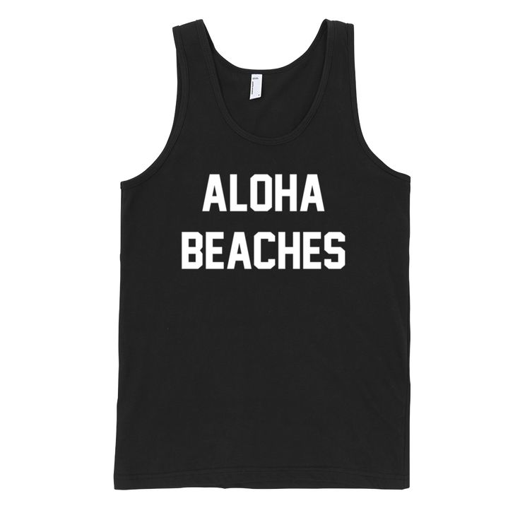 Instagram Caption: LIFE'S A BEACH, IT'S SANDY ALL AROUND ME - Banded Arm and Neck Holes - 100% Fine Jersey (White, Black, Navy) - 90/10 Cotton/Polyester (Grey) - 4.2 oz #lookLAV