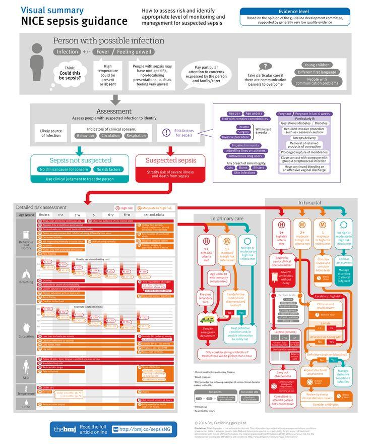 NICE sepsis guidance: Visual summary [BMJ infographic]