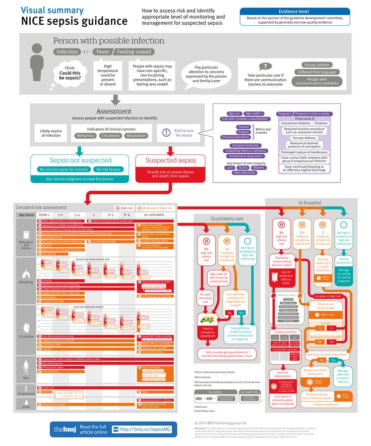 NICE sepsis guidance: Visual summary [BMJ infographic]