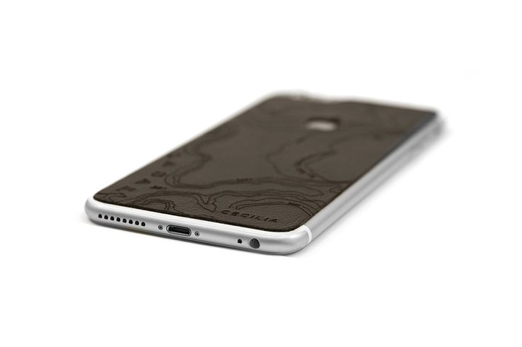 Montana Cocoa iPhone 6sPlus Skin - Engraved Map of the Grand Canyon National Park