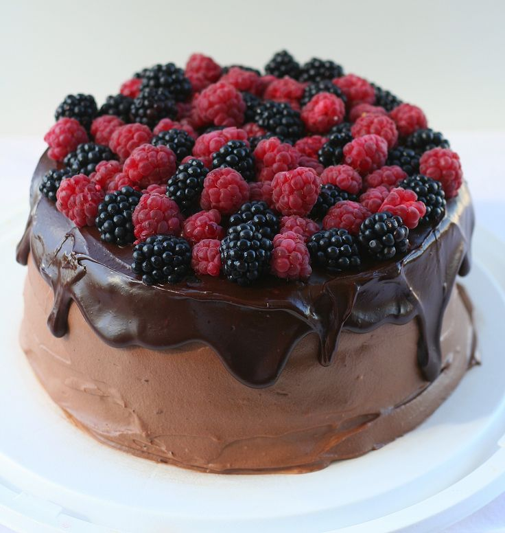 Chocolate cake with berrymousse