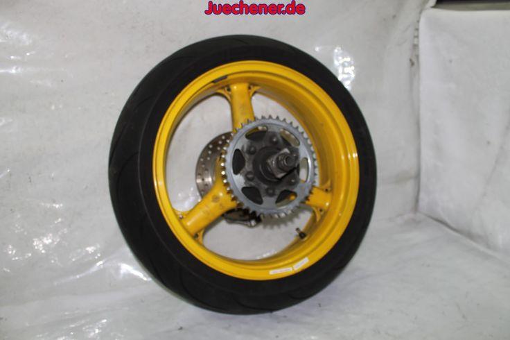 Kawasaki ZX6R ZX600J Ninja Baujahr 2002 Rad Felge hinten 17x5,50  und Steckachse und Ritzel und Bremsscheibe  #17x5 #5 #Bremsscheibe #Felge #Rad #Ritzel