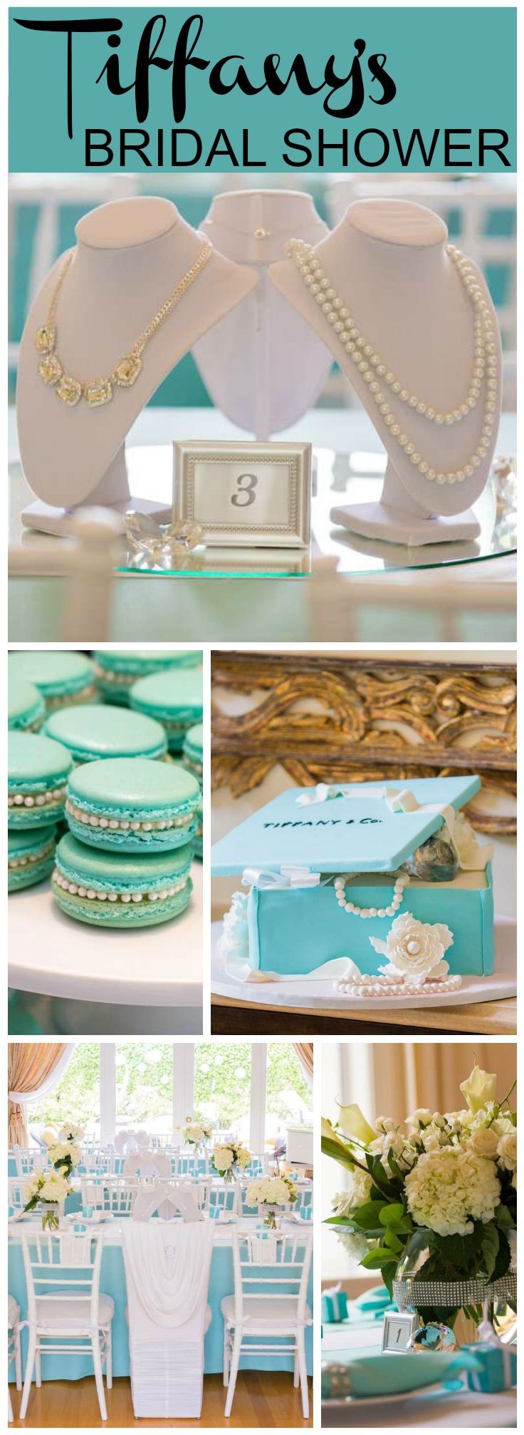 Wow, what a gorgeous Tiffany themed bridal shower! See more party ideas at CatchMyParty.com!