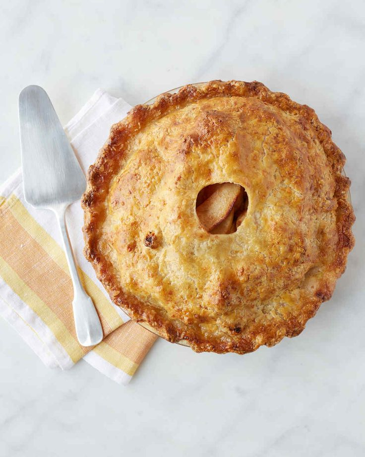 Cheddar-Crusted Apple Pie | Martha Stewart Living - Cheddar cheese and apples make a delicious savory and sweet combination. Martha made this recipe on episode 706 of Martha Bakes.