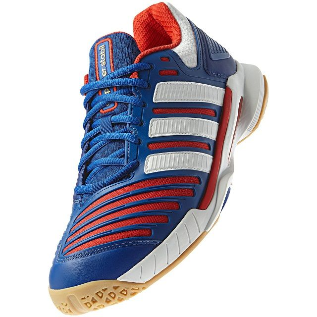 Adidas White Squash Blue Red Stabil Adipower 10 Shoes F6arFf