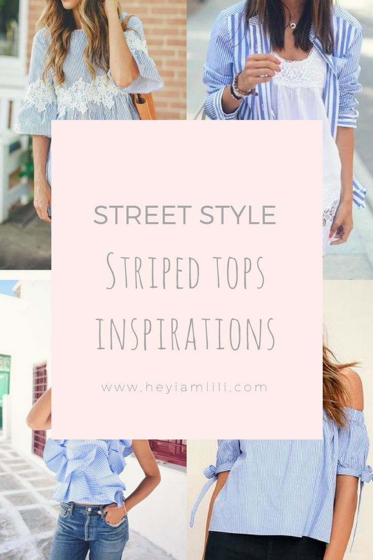 I have seen many striped tops lately! However, the ones that have caught my heart are the ones with vertical stripes in blue and white shades!