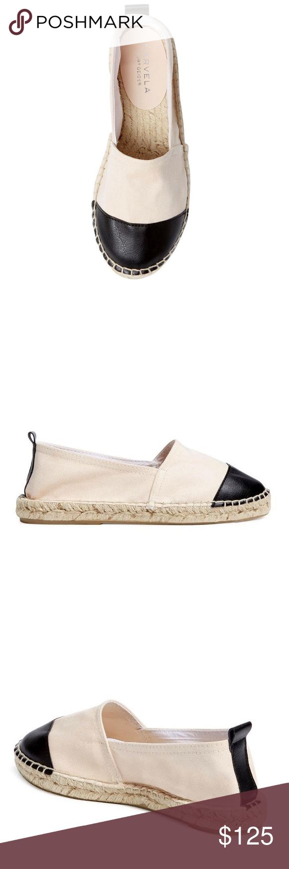 NEW Carvela Kurt Geiger Leather Ballet Espadrille Features: * Leather/canvas upper * Round toe * Pull-tab at back * Jute insole and outsole * Made in Spain  Note: These run very small. Size 41 fits like a US 7.5 Carvela Kurt Geiger Shoes Espadrilles