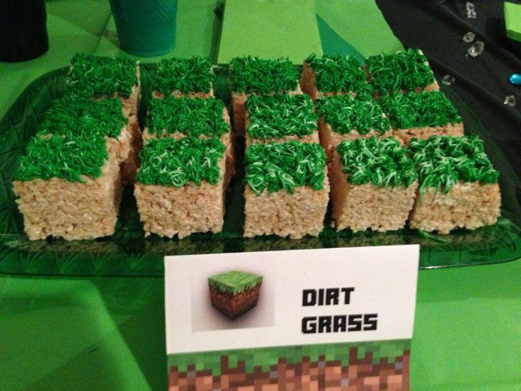 minecraft-birthday-party-dirt-grass-snacks-treats-food.jpg 960×720 pixels