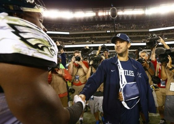 Cowboys' Romo likely to sit 2 months with broken collarbone #Cowboys, #Falcons