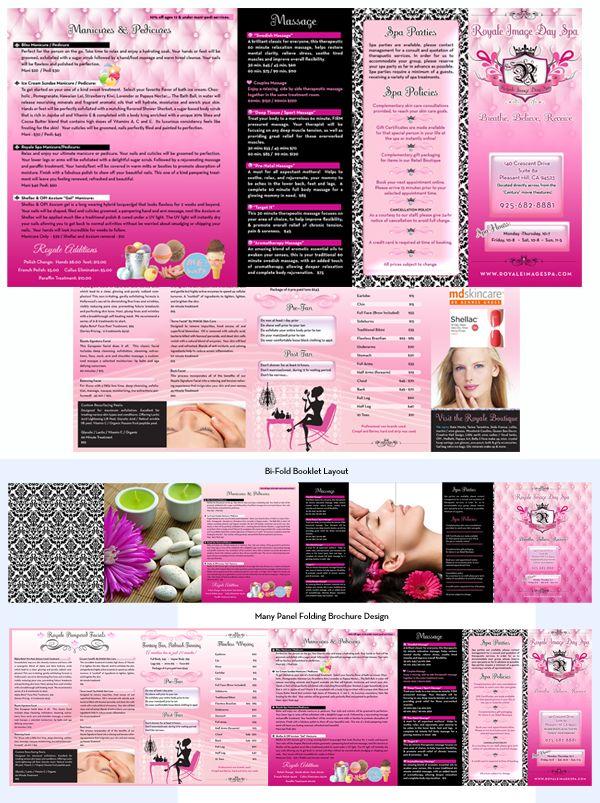 Best Web Design Images On   Spa Logo Brochure Design