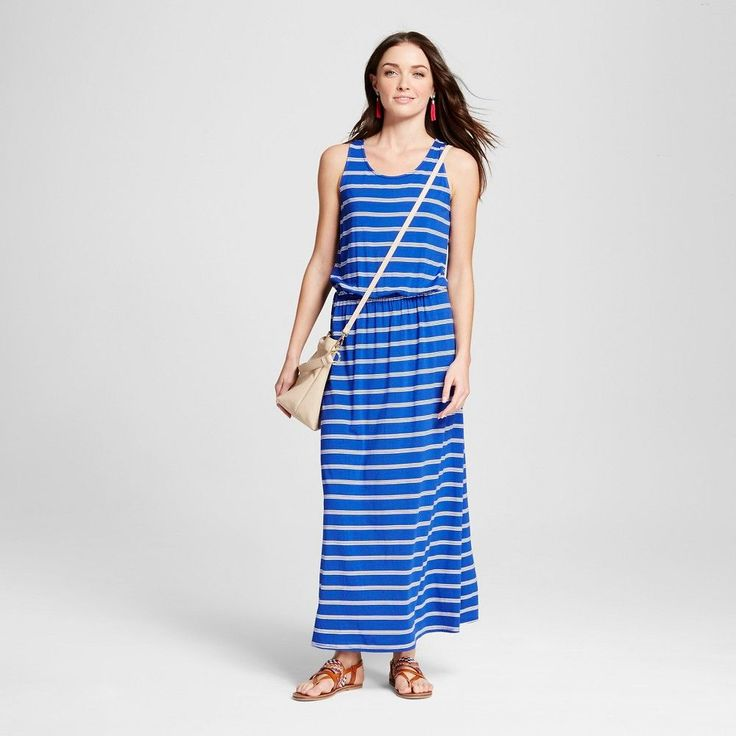 Women's Maxi Dresses Blue Xxl - Merona