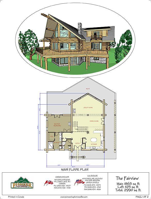64 best Floor Plans images on Pinterest   Log home, Log homes and ...