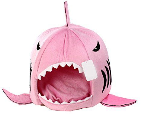 Dog Cat Puppy Pet Shark Cave Bed Mat Nesting Rest Knit Cotton Soft Warm Removable Cushion Mat Dog Puppy Cat House (Pink, Small) - http://www.thepuppy.org/dog-cat-puppy-pet-shark-cave-bed-mat-nesting-rest-knit-cotton-soft-warm-removable-cushion-mat-dog-puppy-cat-house-pink-small/