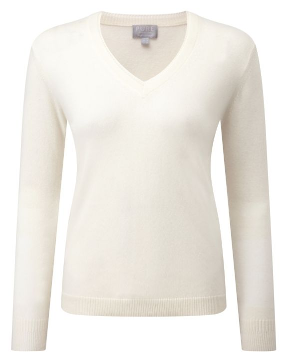 Cashmere Double V Neck Sweater