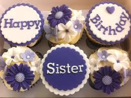 Happy. Birthday.Sister  cupcakes: Birthday Stephanie'S I, Cupcakes Decor, Happy Birthday Sisters, Birthday Stephanie I, Birthdaysist Cupcakes, Birthday Siste Cupcakes, Baking Ideas, Happy Birthdaysister, Cupcakes Rosa-Choqu