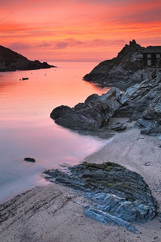 Polperro Sunrise, Cornwall - England. I used to go there every summer as a child. Beautiful place.