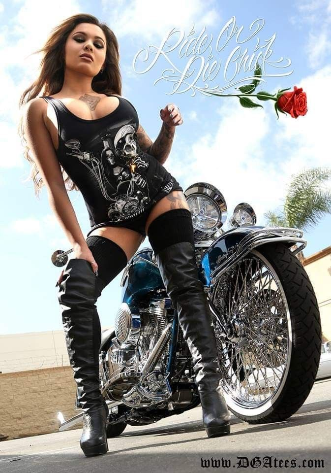 Sexy Biker Girl Stock Photos And Images
