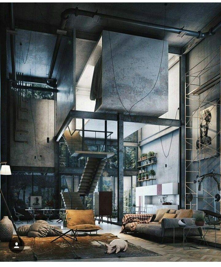 Pinterest Jillibeandream Home Loft Interiors Loft Design