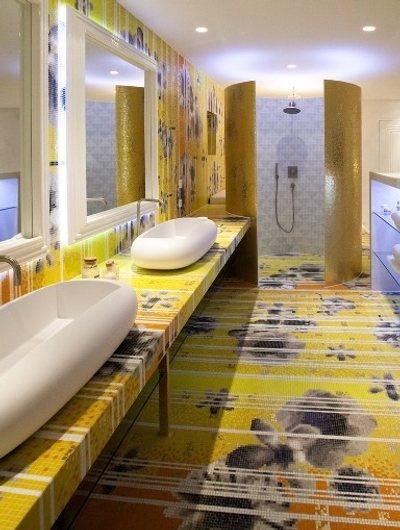 Mosaicos de vidrio bisazza en casa son vida mosaic tiles for Bisazza bathroom ideas