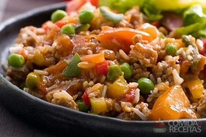Receita de Arroz com legumes à moda indiana. - Comida e Receitas