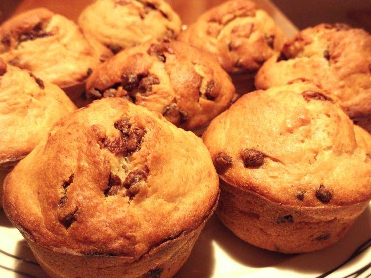 Olga's cuisine...και καλή σας όρεξη!!!: Muffins μπανάνας με σταγόνες σοκολάτας