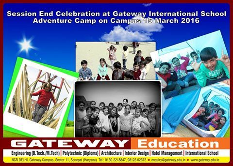 Session end celebrating at Gateway international School Adventure camp on campus 15 march 2016