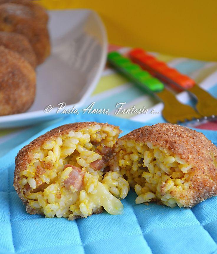 Arancini alla Carbonara, primo piatto