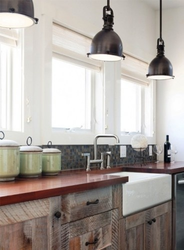 the perfect kitchen aesthetic: clean, warm and rustic. (New Moon Cottage Interior Design:  Donna Grimes. Photo: Sam Oberter)