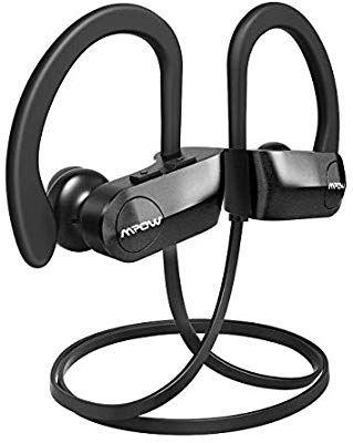 b50e99e2ce5 Amazon.com: Mpow D7 [Upgraded] Bluetooth Headphones, IPX7 Waterproof Richer  Bass