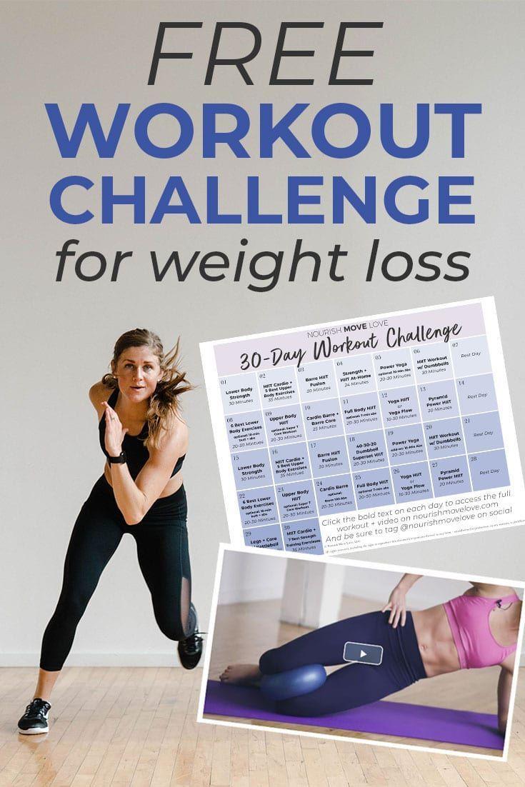 FREE 30 Day Workout Challenge Workout Calendar