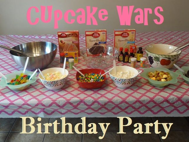 Cupcake Wars Birthday Party Lessons From Our Life Pin The Cherry