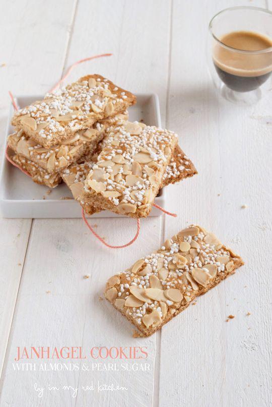 Dutch Janhagel cookies for the Great Food Bloggers Cookie Swap | in my Red Kitchen #fbcookieswap #cookies #cookie #dutch #almondcookie