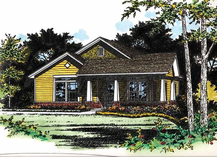 Bungalow House Plan With 1553 Square Feet And 4 Bedrooms