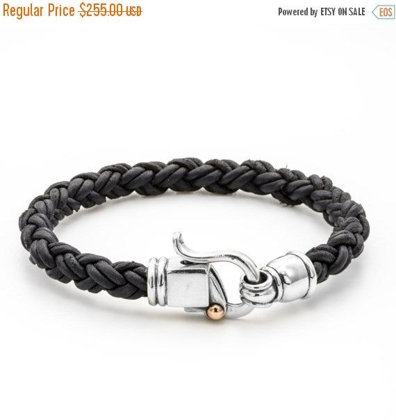 ON SALE BRACELET Braided Leather silver clasps with by cremerdani   – Fashion finds