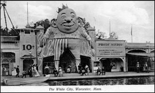 The old White City Amusement Park in Worcester, Massachusetts