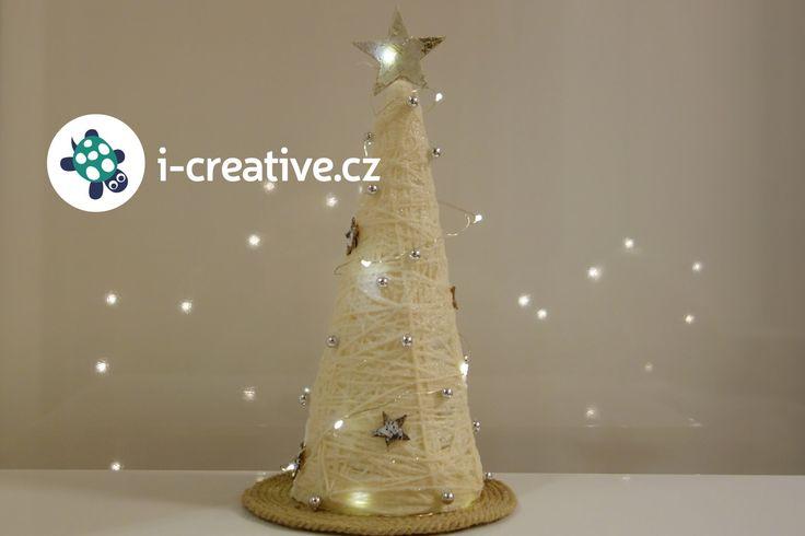 Vánoční stromeček z bavlnky a kuželu - video návod krok za krokem
