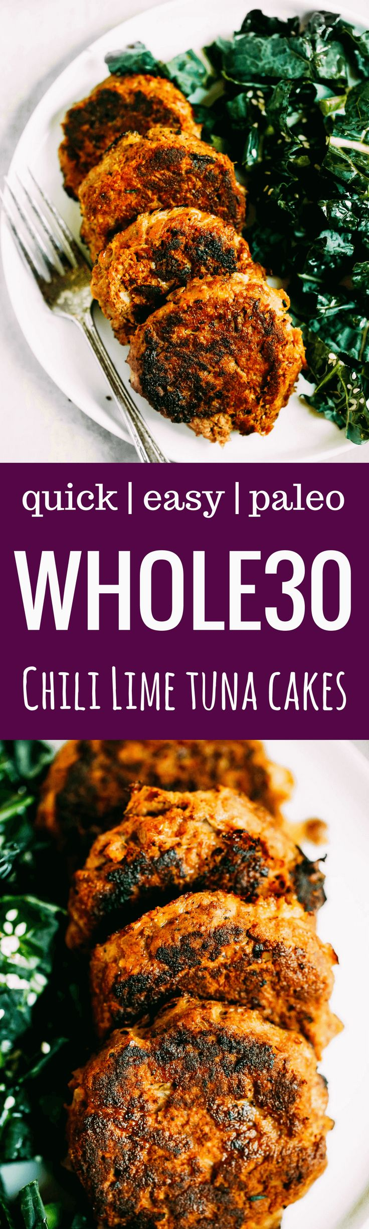 Must add to the menu this week! Healthy, whole30, and paleo friendly wild tuna cakes made with low mercury chili lime tuna.Easy Whole30 recipes. Best paleo shopping guide. Easy whole30 lunch recipes. Easy whole30 lunch ideas. Whole30 lunch recipes. Best w