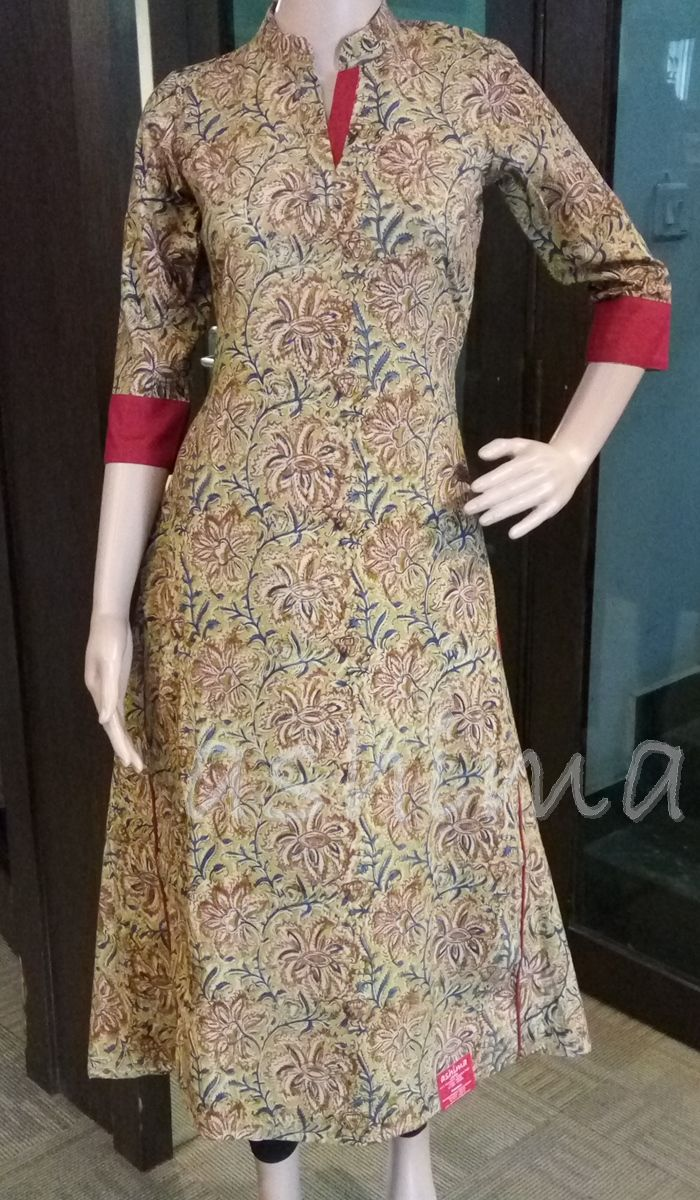 Code:2810162 - Kalamkari Printed kurti, Price INR:1190/-
