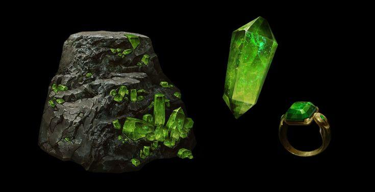 Mineral Assets , Betty Jiang on ArtStation at https://www.artstation.com/artwork/mineral-assets