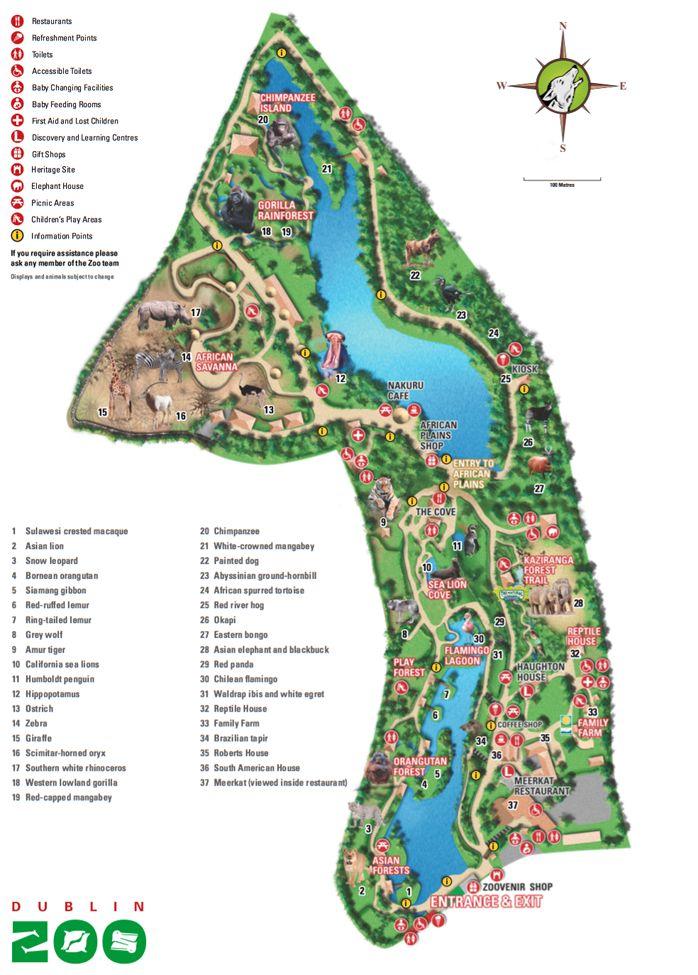 Map of Dublin Zoo