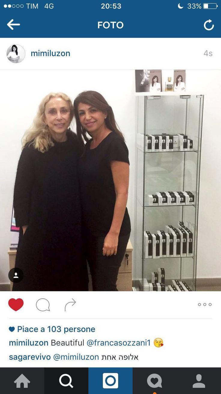 Franca Sozzani, direttrice della rivista Vogue Italia, con Mimi Luzon