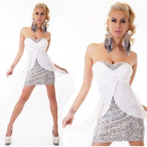 22404S Στράπλες Φόρεμα Άσπρο